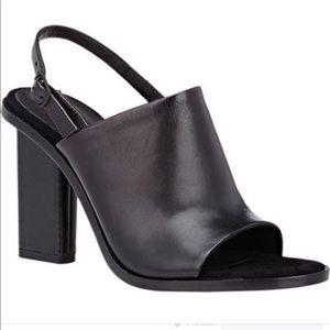 black alexander wang cole slingback open toe heel